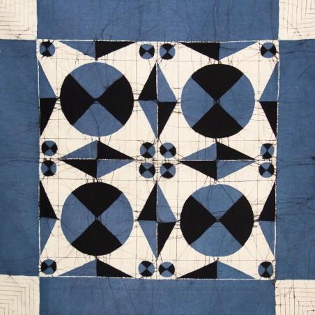 Grey-Blue Square Tablecloth & Serviettes (set)