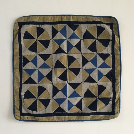 Aged-Stone + Pale Khaki Cushion Cover