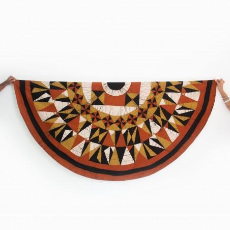 Khaki-Rust Round Tablecloth & Serviettes (set)